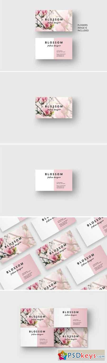 Vintage flower business card 1697586