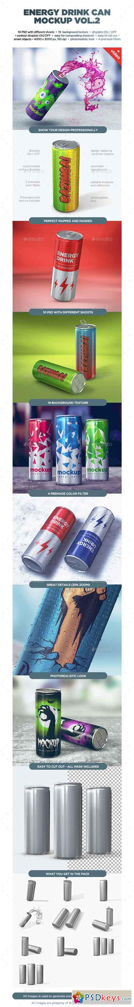 Energy Drink Can Mockup vol2 13867675