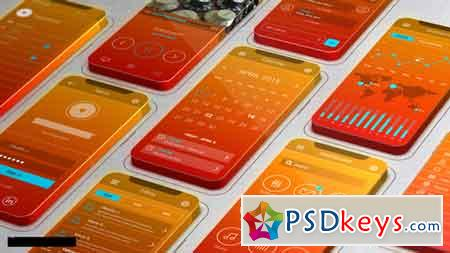 3D Screens App Promo 11543376 After Effects Template