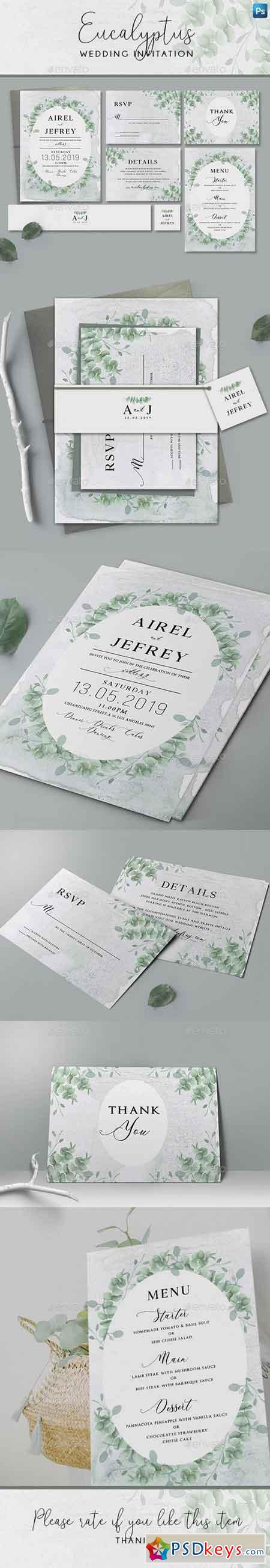Eucalyptus Wedding Invitation 22386017