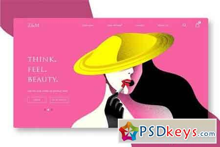 Beauty and Cosmetics - Banner & Landing Page