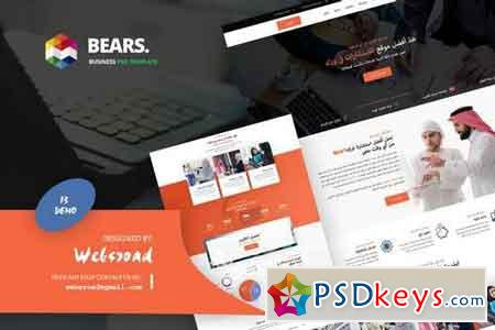 Bear's - Arabic Business PSD Template » Free Download