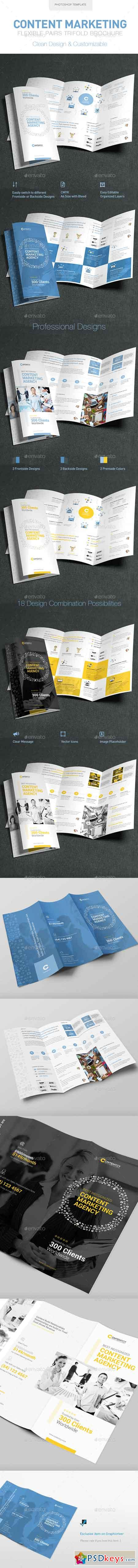 Content Marketing Trifold Brochure 13950268