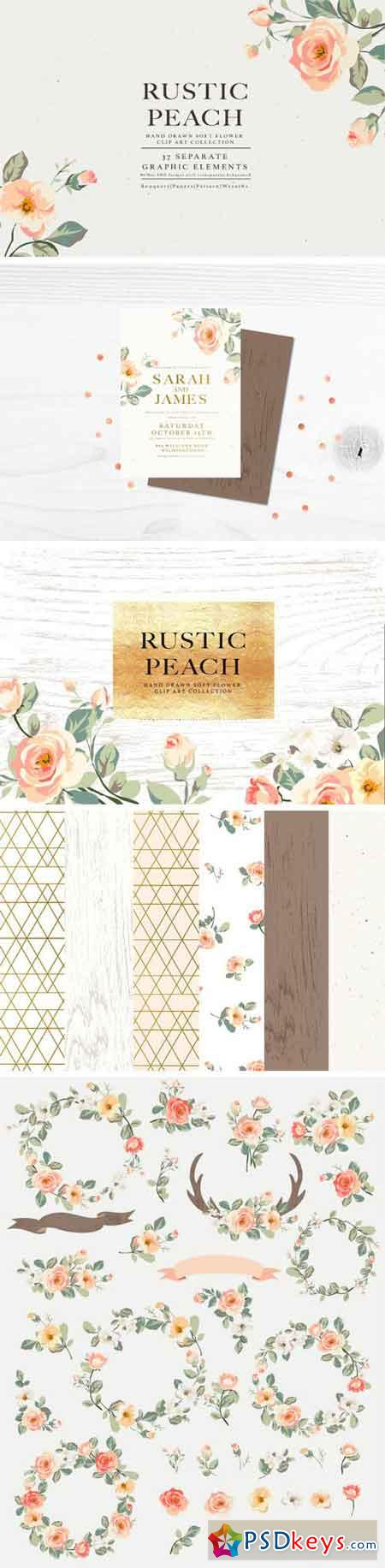 Flower Collection - Rustic Peach