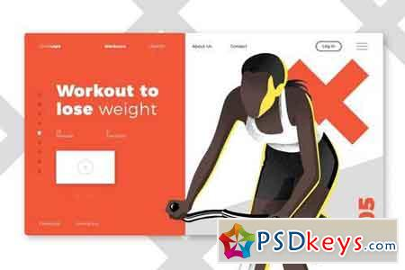 Gyms & Sport Club Banner & Landing Page