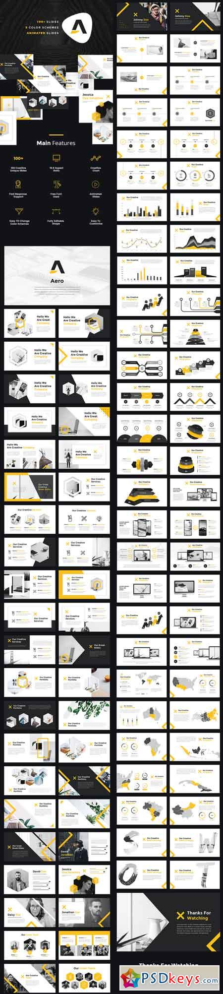 Aero - Pitch Deck PowerPoint Template 22386603
