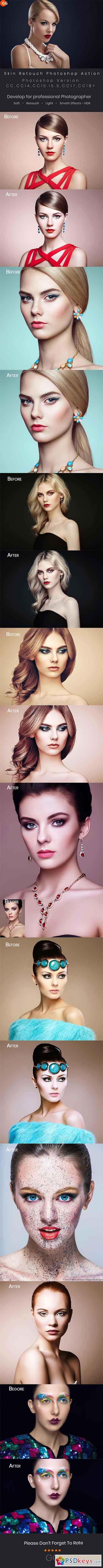10 Skin Retouch Photoshop Action 22290778