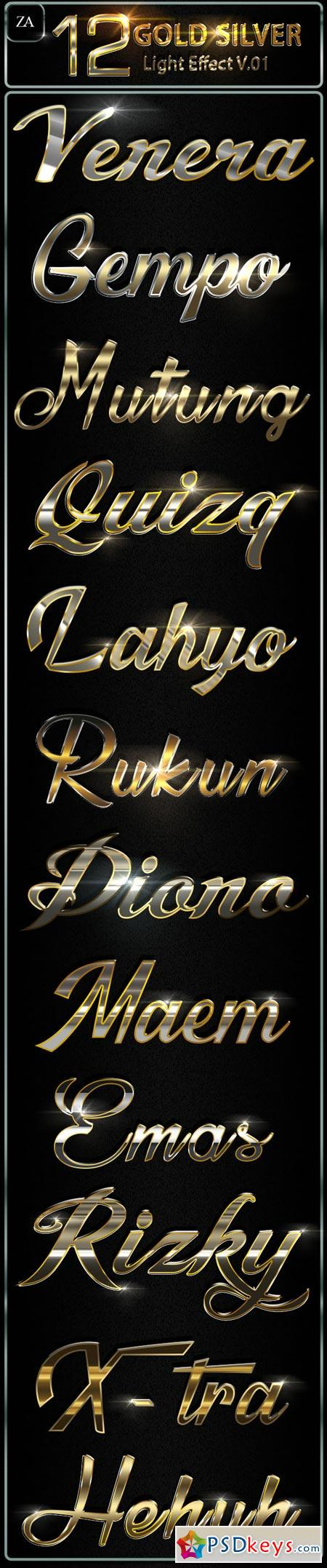 Gold Silver Text Effect 22370241