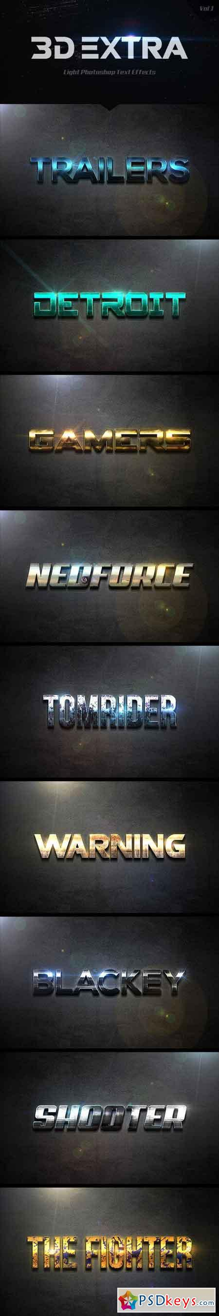 3D Extra Light Text Effects Vol.1 14495110