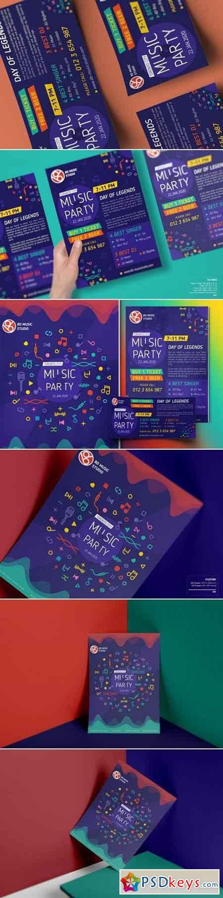 Music Party-Set Template