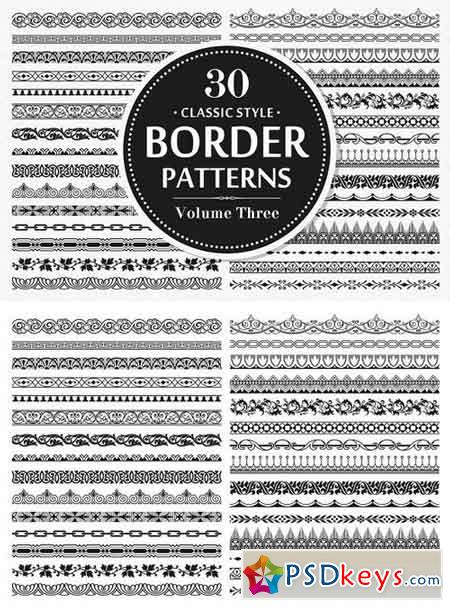 30 Vector Border Seamless Patterns 2840859
