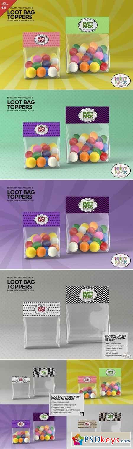 Loot Bag Packaging Mock Up 2198508