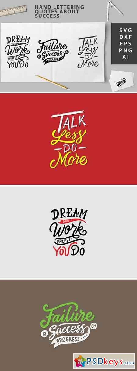 SVG Cut File - Hand Lettering Quotes About Success 123117