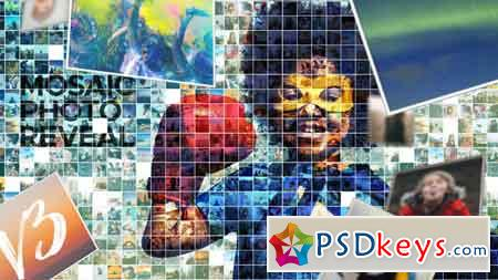 Mosaic Photo Reveal V3 7266788 After Effects Template