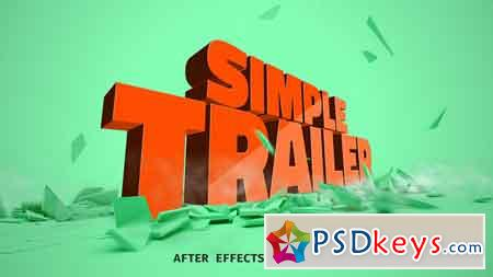 Simple Trailer 21787310 After Effects Template