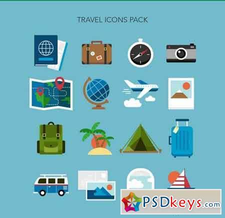 16 Travel Icons 22198499