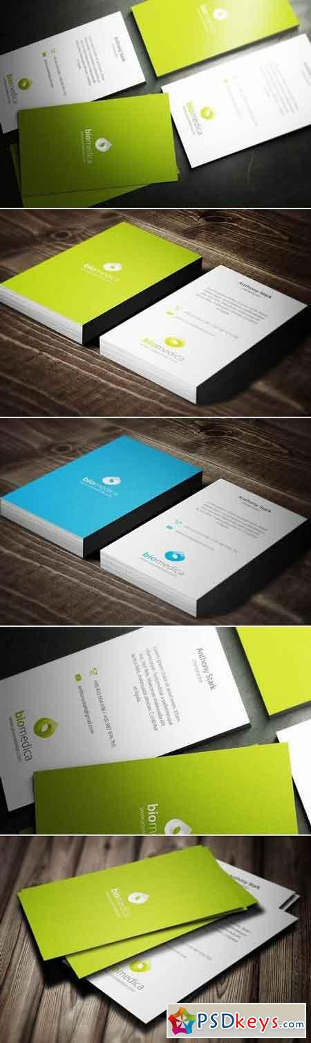 Biomedica Business Card Design