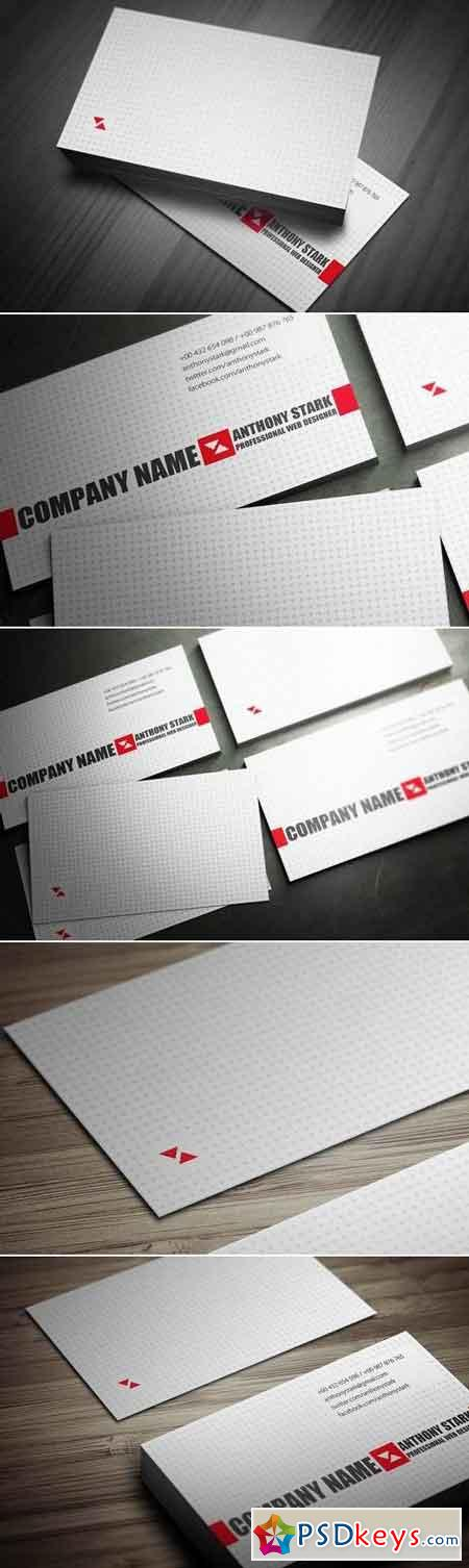 Light Business Card Design
