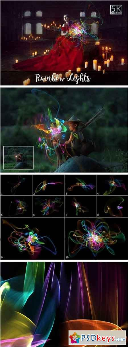 5K Rainbow Lights Overlays 2106850