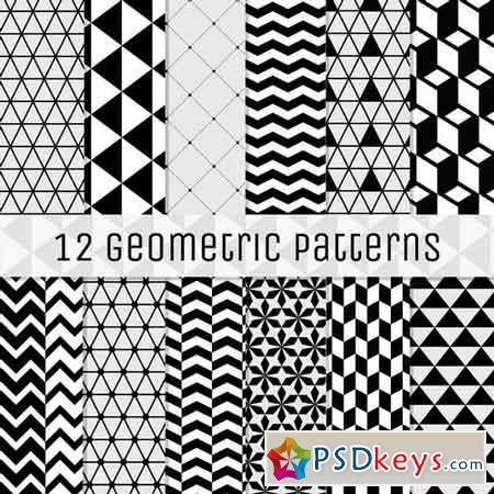 12 Geometric Seamless Backgrounds 217036