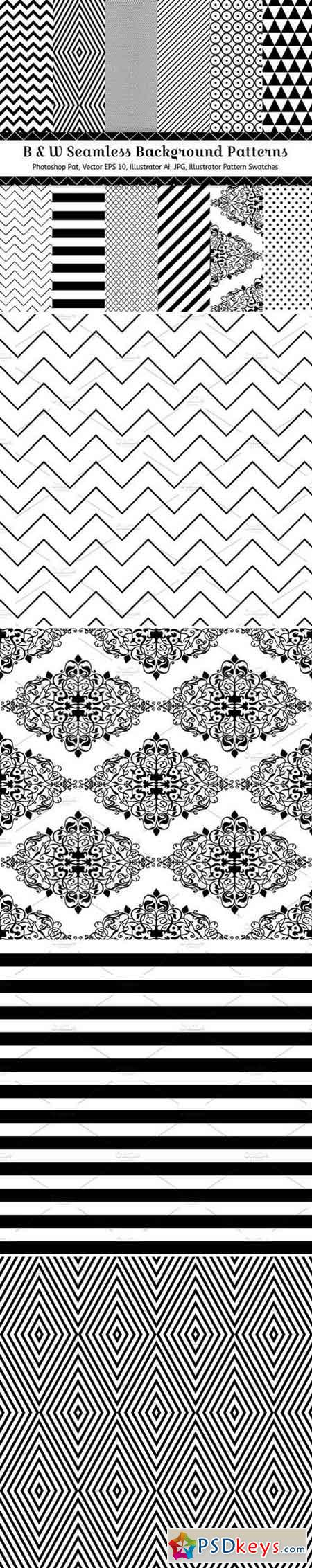 12 Geometric Seamless Patterns 67626