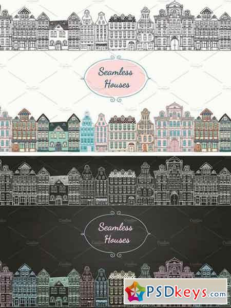 Seamless Old Styled Houses 66574