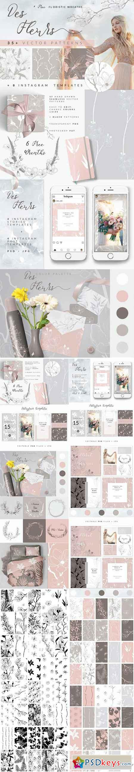 35+ Patterns & 8 Instagram Templates 2344548