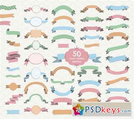 50 Ribbons PNG, SVG, AI, EPS, JPG 822558
