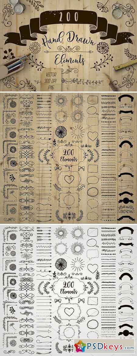 200 Decorative Elements 1231361