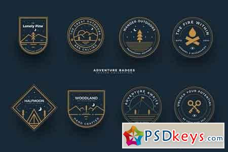 Outdoors Adventure Badges Collection