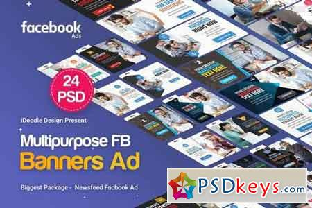 NewsFeed Multipurpose Banners Ad - 24 PSD