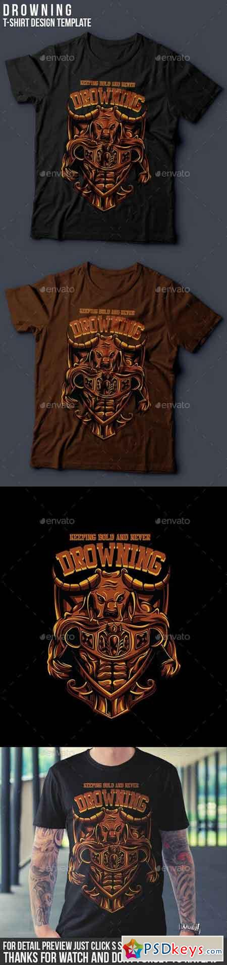 Drowning T-Shirt Design 14481002