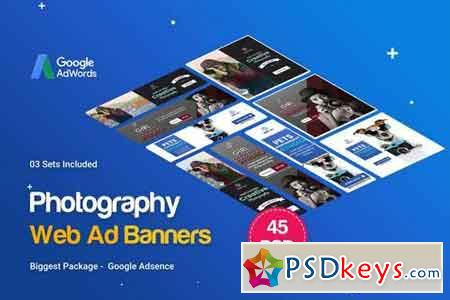 Photography Banners Ad - 45PSD [03 Sets]