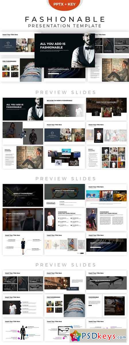 Fashionable Presentation Template 2856258