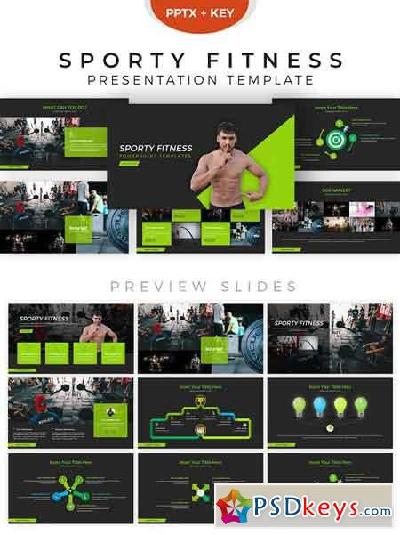 Fitness Powerpoint Template 2855927