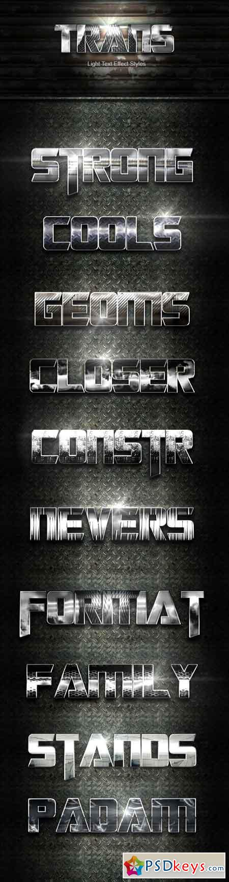 Trans Steel Text Effect V02 22471209