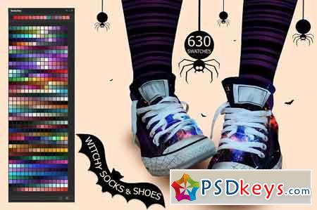 Witchy Socks & Shoes Swatches 2873705