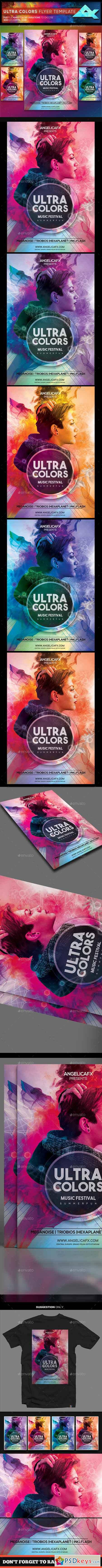 Ultra Colors Photoshop Flyer Template 22358666