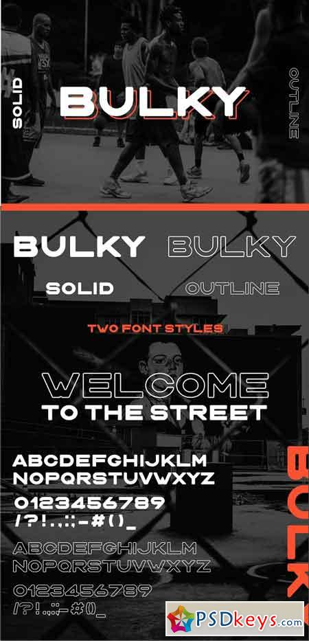 BULKY Display typeface, 2 styles 2710847