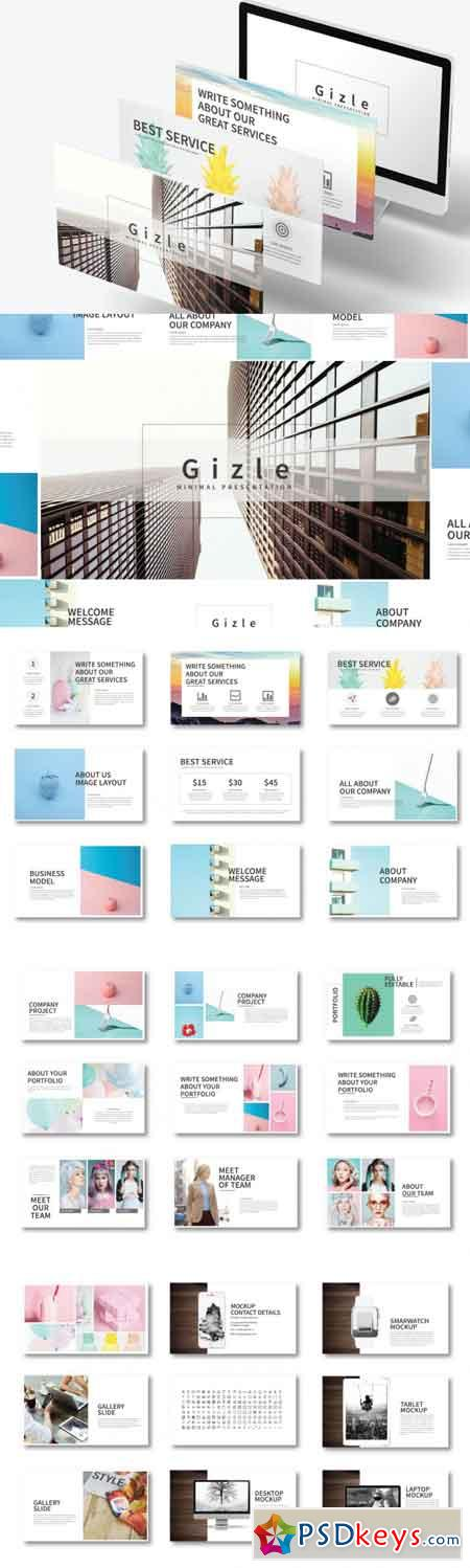 Gizle Powerpoint Template 3481909