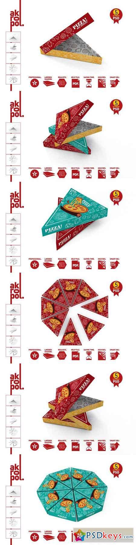 Pizza Slice Box Packaging Mockup 2758554