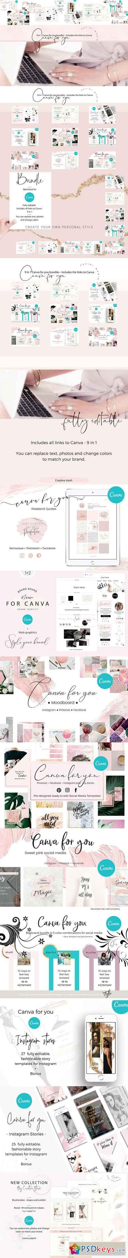 All Canva for you shop bundles 2878890