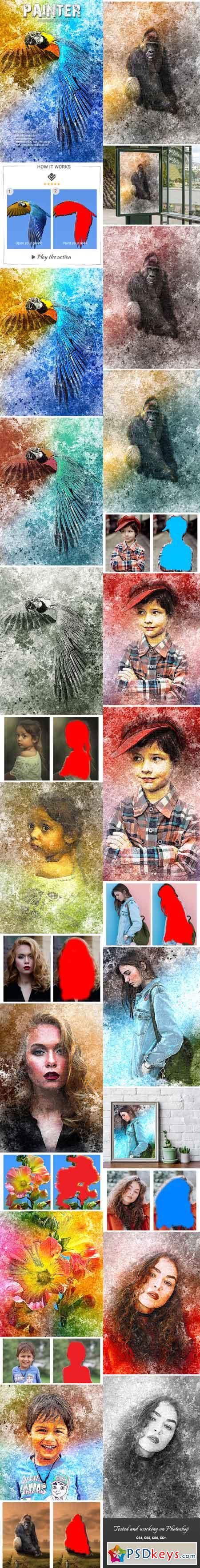 Painter Photoshop Action 22411730