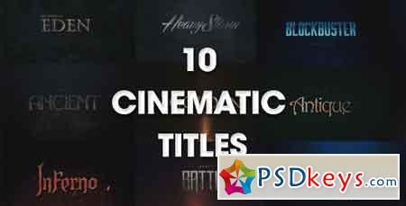 10 Cinematic Titles 20164595 After Effects Template