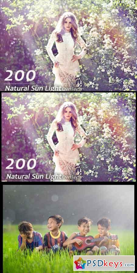200 Natural Sun Light Overlays 3479217