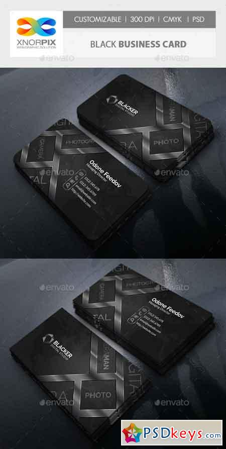Black Business Card 22506243