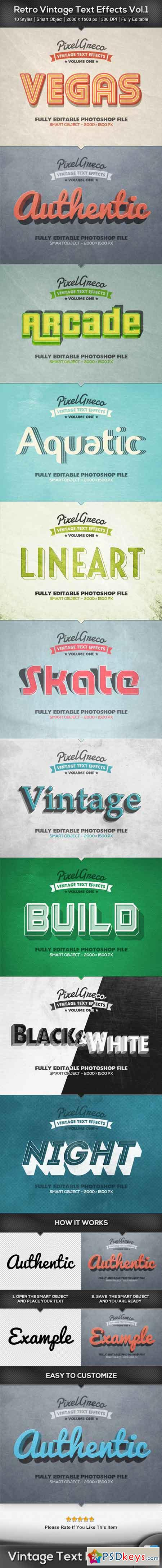 Retro Vintage Text Effects Vol.1 22497877