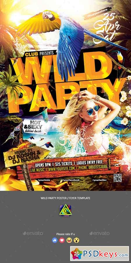Wild Party Poster Flyer 22490570