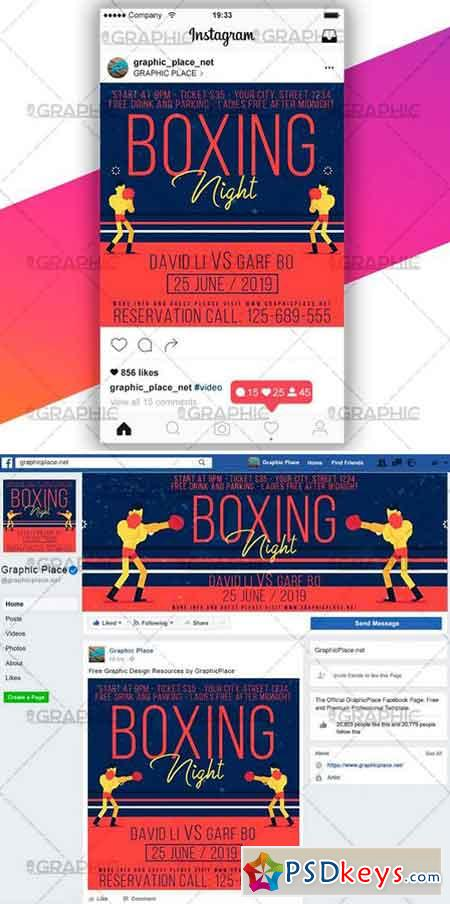 BOXING NIGHT – SOCIAL MEDIA VIDEO TEMPLATE