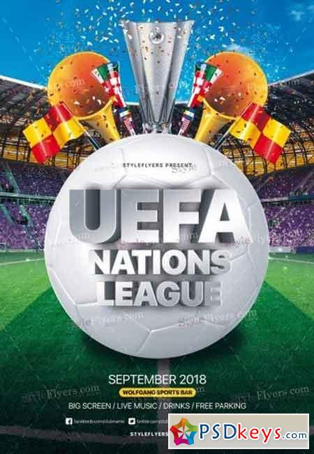Uefa Nations League PSD Flyer Template